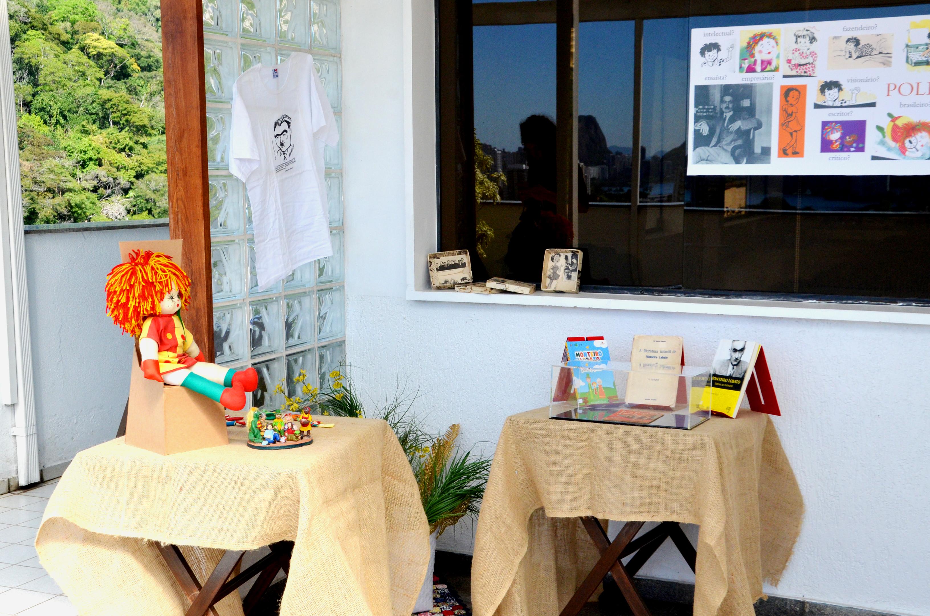 Exposição da BLLIJ sobre Monteiro Lobato